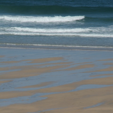 c08117: abstract photo (beach and breaking waves) by Ewart Shaw