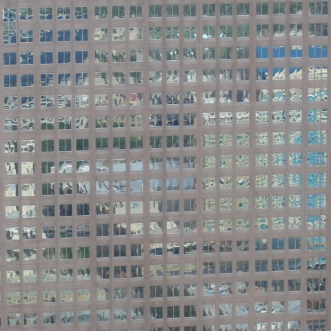 p0255: abstract photo (reflections in skyscraper windows) by Ewart Shaw